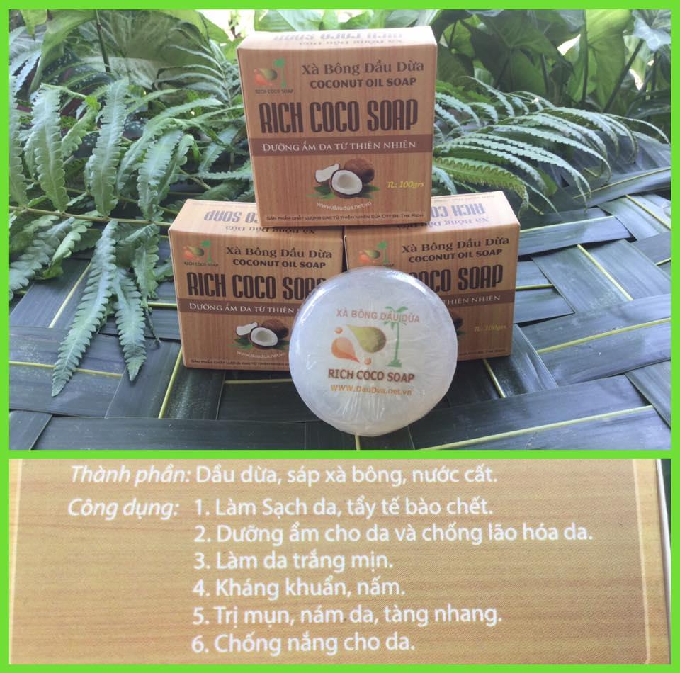 XÀ BÔNG DỪA – RICH COCO SOAP: CÔNG THỨC DƯỠNG ẨM DA DO THIÊN NHIÊN BAN TẶNG